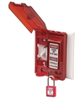 UNIVERSAL WALL SWITCH LOCKOUT - designed to fit over all type of wall switches, toggle, paddle, slide, rocker and rotary