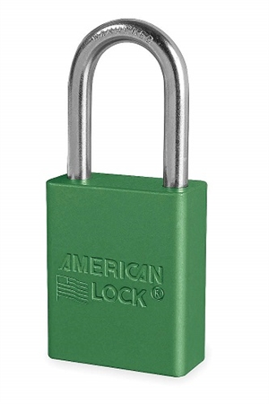 American Lock A1106grn Safety Series Padlock Green