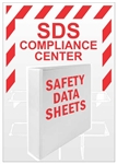 "GHS Compliance Center With Rack & Binder - 24"" X 18"" Constructed of high-impact plastic"