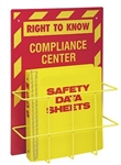 "Wall Mount, MSDS, Compliance Center with 1.5""  Binder - 20"" X 14"" Constructed of high-impact plastic"