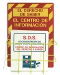 "Spanish SDS Right To Know Information Center W/Binder - 20"" X 14"" Constructed of high-impact plastic"