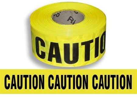 Caution Barricade Tape - 3 in. X 1000 ft. Rolls - Durable Yellow 3 mil Polyethylene