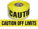 Caution Off Limits Barricade Tape - 3 in. X 1000 ft. Rolls - Durable 3 mil Polyethylene