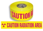 Caution Radiation Area Barricade Tape - 3 in. X 1000 ft. Rolls - Durable 3 mil Polyethylene