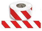 Red/White Striped Barricade Tape - 3 in. X 1000 ft. lengths - 3 Mil Durable Polyethylene