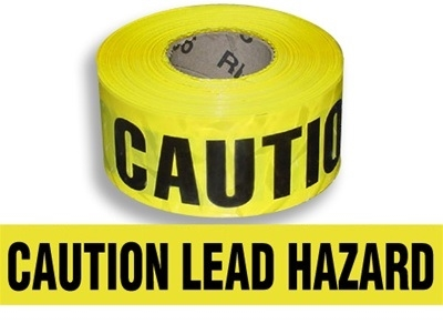Caution Lead Hazard Barricade Tape
