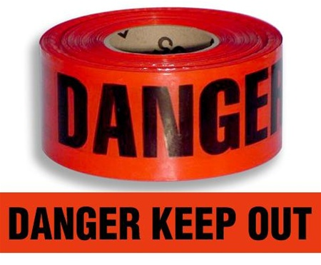 DANGER KEEP OUT. Barrier Tape