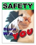 Vertical, Safety Starts With You Banners and Posters, Choose from 4 sizes plus 6 different size posters