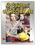 Vertical, Be Alert Don't Get Hurt Safety Banners and Posters, Choose from 4 sizes plus 6 different size posters