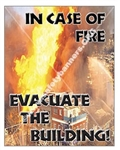 Vertical, In Case of Fire Evacuate The Building, Safety Banners and Posters, Choose from 4 sizes plus 6 different size posters