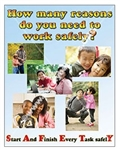 Vertical, How Many Reasons Do You Need To Work Safely, Safety Banners and Posters, Choose from 4 sizes plus 6 different size posters