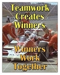 Vertical, Teamwork Creates Winners, Banners and Posters, Choose from 4 sizes plus 6 different size posters