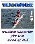 Vertical, Teamwork, Pulling Together For The Good Of All, Productivity Banners and Posters, Choose from 4 sizes plus 6 different size posters