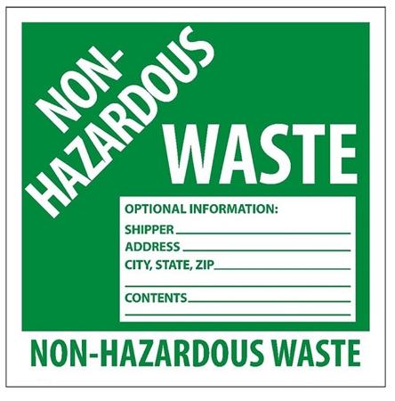 6x6 non hazardous waste labels - Hazardous Waste Labels
