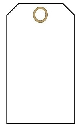 blank white  tags  100  pk  with fasteners Print Your Own Luggage Tags luggage tag clipart