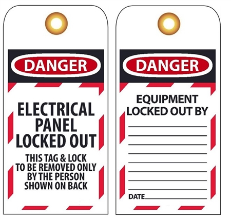 Danger Electrical Panel Locked Out Tag