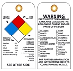 NFPA Target Organ Exposure Hazard - Vinyl or Card Stock Accident Prevention Tags