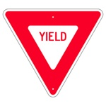 YIELD - Available in 2 sizes 30 X 30 X 30 or 36 X 36 X 36 - Choose from Engineer Grade, High Intensity or Diamond Grade Reflective.