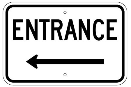 Entrance L Arrow Left
