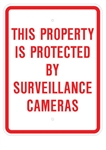THIS PROPERTY IS PROTECTED BY SURVEILLANCE CAMERAS SIGN - 18 X 24, Engineer Grade Reflective Aluminum