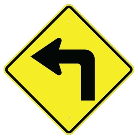 Turn Left Symbol Sign