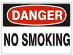DANGER NO SMOKING Signs, Choose 7 X 10 - 10 X 14, Self Adhesive Vinyl, Plastic or Aluminum