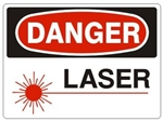 DANGER LASER SYMBOL Sign - Choose 7 X 10 - 10 X 14, Self Adhesive Vinyl, Plastic or Aluminum.