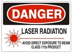 Danger Laser Radiation Avoid Direct Exposure To Beam Class 111b Product Sign - Choose 7 X 10 - 10 X 14, Self Adhesive Vinyl, Plastic or Aluminum.