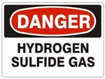 DANGER HYDROGEN SULFIDE GAS Sign - Choose 7 X 10 - 10 X 14, Self Adhesive Vinyl, Plastic or Aluminum.