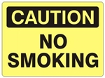 CAUTION NO SMOKING Sign - Choose 7 X 10 - 10 X 14, Self Adhesive Vinyl, Plastic or Aluminum.