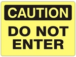CAUTION DO NOT ENTER OSHA Sign - Choose 7 X 10 - 10 X 14, Self Adhesive Vinyl, Plastic or Aluminum.