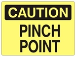 CAUTION PINCH POINT Sign - Choose 7 X 10 - 10 X 14, Self Adhesive Vinyl, Plastic or Aluminum.