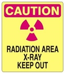 CAUTION RADIATION AREA X-RAY KEEP OUT Sign - Choose 7 X 10 - 10 X 14, Self Adhesive Vinyl, Plastic or Aluminum.