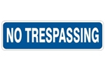 NO TRESPASSING Sign, 4 X 20 Choose Pressure Sensitive Vinyl, Plastic or Aluminum