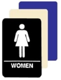 ADA WOMEN RESTROOM Sign - 6 X 9 Available in Blue, Black and Taupe