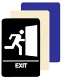 ADA Braille Exit Sign - 6 X 9 Available in Blue, Black and Taupe