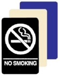 ADA Compliant NO SMOKING Sign - 6 X 9 Available in Blue, Black and Taupe