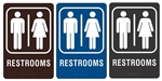 "RESTROOMS - Engraved Premium - ADA SIGN 9"" X 6"""