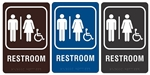 "RESTROOM - Engraved Premium - ADA SIGN 9"" X 6"""