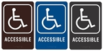 "HANDICAPPED ACCESSIBLE - Engraved Premium - ADA SIGN 9"" X 6"""