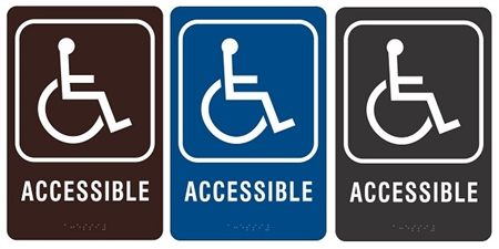 Ada wheelchair accessible compliance sign Handicapped wheelchair