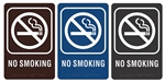 "NO SMOKING - Engraved Premium - ADA SIGN 9"" X 6"""