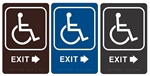 "EXIT arrow Right - Engraved Premium - ADA SIGN 9"" X 6"""