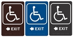 "EXIT arrow left - Engraved Premium - ADA SIGN 9"" X 6"""