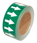 Directional Flow Arrow Tape, White on Green