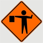 FLAGMAN AHEAD SYMBOL Sign, Choose 30 x 30, 36 X 36 or 48 X 48 Engineer Grade, High Intensity or Diamond Grade Reflective Aluminum