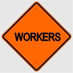 WORKERS AHEAD Construction Sign - Choose 30 x 30, 36 X 36 or 48 X 48 Engineer Grade, High Intensity or Diamond Grade Reflective Aluminum