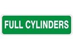 FULL CYLINDERS, Gas Cylinder Sign, 4 x 20 Self Adhesive Vinyl, Plastic or .040 Aluminum