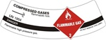 COMPRESSED GASES CYLINDER LABEL, Labels are 2 x 5.5 Sold 5 per package