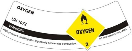 Oxygen Cylinder Shoulder Labels